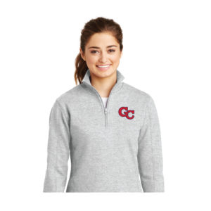 Ladies Half Zip Sweatshirt